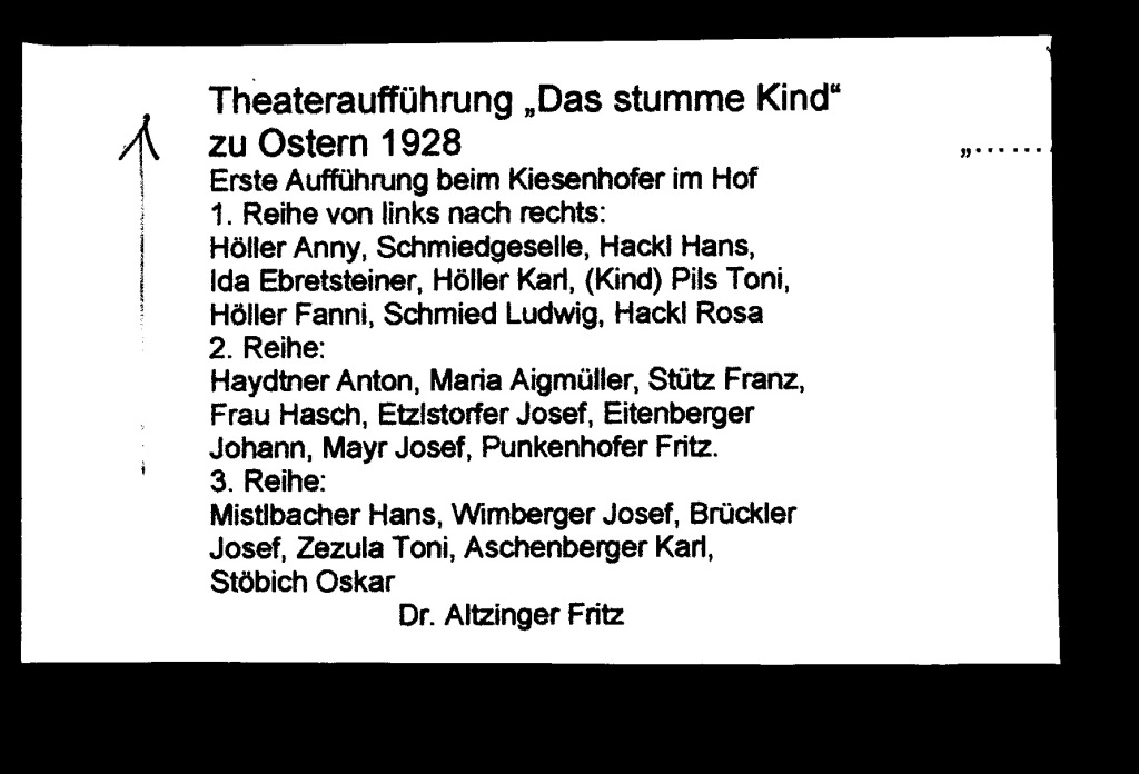 "Namensgebung ""Theaterrunde"" & ""Das stumme Kind"""